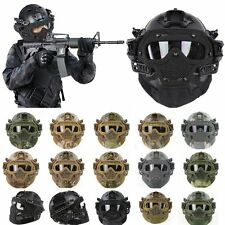 Protective Tactical Helmet Full Face Mask Goggles G4 Protector Airsoft Paintball