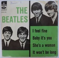 The Beatles I Feel Fine Danish Geos 225 Rare picture Sleeve