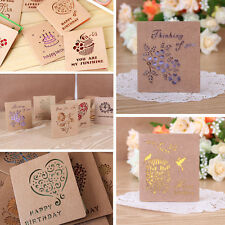 Greeting Cards W/Envelope Visual 3D Box Gift Cards Leave Message Paper Cards New