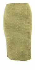 Calvin Klein Womens Metallic Flecked Tweed Woven Pencil Skirt (4P