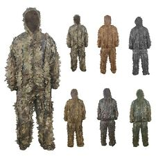 3D Leaf Camouflage Clothing Set Jungle Camo Sniper Tactical Airsoft Ghillie Suit