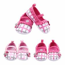 Newborn Anti-Slip Baby Toddler Girls Cute Plaid&Checks Shoes Cotton Sneakers