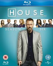 HOUSE MD Complete Season 6 Blu-ray Hugh Laurie TV Series All Episodes New UK R2