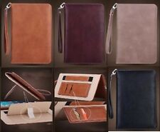 Genuine Soft Leather Smart Case Stand Magnetic Cover for APPLE iPad Air 2