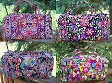VERA BRADLEY Large Duffel Travel Bag Safari Sunset Suzani Symphony Va Va Bloom