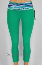 NEW LULULEMON Wunder Under Crops Reversible 4 6 8 10 Jungle Green Inkwell NWT