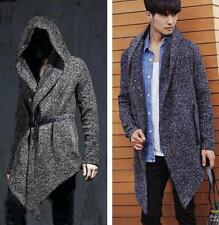 Asymmetric Hooded New Mens Gothic School Retro Winter Jacket Coat Parka Outwear