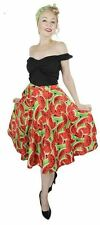Miss Elinor- Elizabeth Watermelon Full Circle skirt- 1950's Rockabilly Skirt