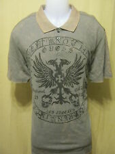 GUESS Slim Fit Mens Polo Style Shirt Short Sleeve Iron Grey School Date New