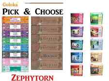 Goloka Brand Incense Sticks - Large Selections - 15 Grams pack (Pick and Choose)
