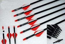 Wholesale, Archery Fiberglass Arrows for Hunting Recurve Bow or Compound bow