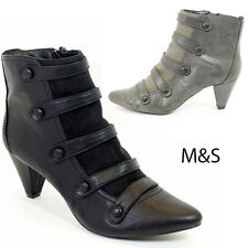 NEW M&S WOMENS GIRLS CHUNKY BLOCK HEELS SOLE CHELSEA ANKLE BOOTS SHOES SIZE 3-8