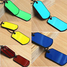 Newest Army Tactical Style Black 2 Dog Tags Chain Beauty Mens Pendant Necklace
