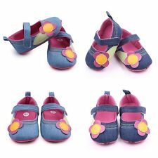 Baby Toddler Girls Cotton Floral Soft Sole Crib Shoes Non-Slip Sneakers 0-12M