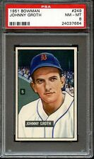 1951 BOWMAN JOHNNY GROTH #249 NMMT  PSA 8
