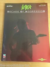SLAYER DECADE OF AGGRESSION GUITAR TAB SHEET MUSIC PAPERBACK BOOK GGF