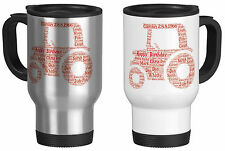 Personalised Travel Mug with Word Art Tractor with your own words gift Birthday