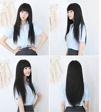 New Natural Fashion Long Straight Wig Women Girl Full Hair Cosplay Party Wigs