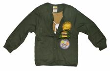 NWT HARAJUKU MINI 'BOY'S' BY GWEN STEFANI BOYSCOUT CARDIGAN W/SHIRT SOLID GREEN