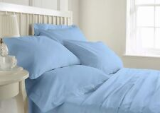 1000TC 100% EGYPTIAN COTTON SKY BLUE SOLID BEDDING ITEMS CHOOSE SIZE & BEDDING