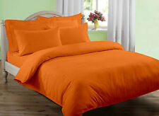USA 1000TC 100% EGYPTIAN COTTON ORANGE SOLID BEDDING ITEMS CHOOSE SIZE & BEDDING