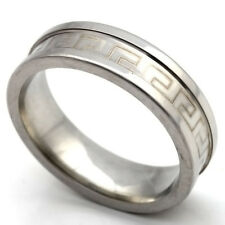 Unisex Silver Stainless Steel wedding Ring Size 7-12 Couple rings free shipping