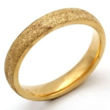 Fashion jewelry Scrub Mens Yellow Gold Filled Stainless Steel Ring 7 8 9 10 11