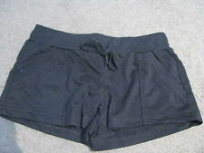 BNEW LADIES BLACK SPORTS GYM WALKING ACTIVE WEAR SHORTS SIZE 10 12