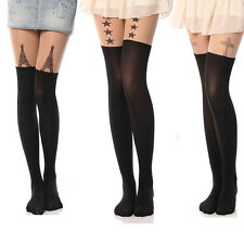Sexy Tights Pantyhose Mock Socks Stockings Tattoo Hosiery Cute Patterns Sheer