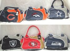 NFL Perfect Bowler Embroidered Two Tone Ladies Hand Bag Purse Profanity