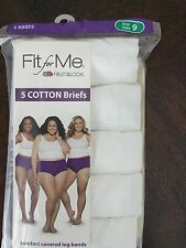 FIT for ME Fruit of the Looms 5 Pair Heather or Cotton Briefs, Variety Sizes