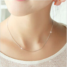 Women Smooth Snake Chain Necklace With Lobster Clasp Pendant Jewellery