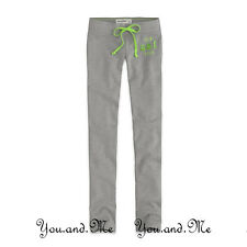 NEW ABERCROMBIE & FITCH KIDS PANTS A&F Girls Skinny Athletic Sweatpants Grey S L