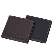 Men Genuine Leather Wallet ID Credit Card Holder Purse Bifold Business Wallets