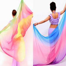220 x 120cm Women's Colorful Costume Sheer Belly Dance Veil Scarf Shawl Hot Sale