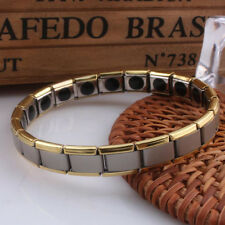 Mens Germanium Bracelet Stainless Steel Magnetic Therapy Health Care vintage