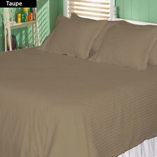 SUPREME (TAUPE STRIPE) 1000TC COMPLETE BEDDING COLLECTION 100% COTTON ALL SIZE