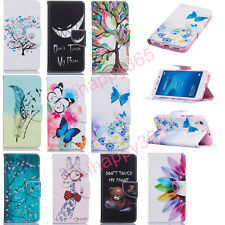 Hot Sale Painted Flip PU Leather Stand Card Wallet Cover Case For Huawei Phones