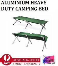 New Aluminium Camping Canvas Bed Stretcher Outdoor Portable Folding Lightweight