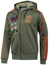 %ADIDAS STAR WARS REBEL MILITARY XWING HOODED HOODY JACKET M L XL