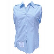 NEW OFFICIAL US AIR FORCE USAF SHIRT WOMENS SHORT SLEEVE TUCK IN DRESS BLUE