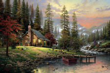 HD Print Oil Painting On Canvas Art Deco Peaceful Retreat,24x36inch   0224