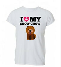 I Love My Chow Chow Dog Lover Pet Gift Cool Womens Mens TShirt Tee