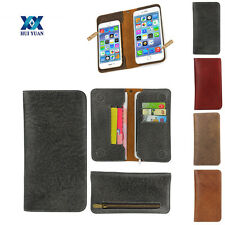 Luxury General Pouch Real Leather Wallet 2in1Case Cover Card Slot Cowhide Purse