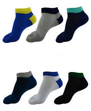 New 6 Pairs Wholesale Colorful MENS Casual Five Finger Toe Socks Ankle Socks