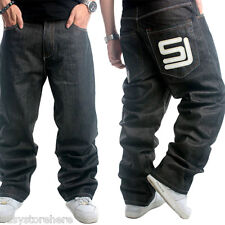 Men European Hip-Hop Straight fit long pants Rock Denim Jeans Pants Plus size