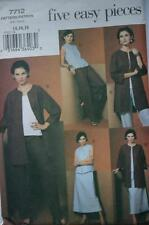 VOGUE 7712 MISSES EASY JACKET TOP SKIRT PANTS PATTERN SZ 14 16 18
