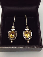 Orange  Genuine CITRINE / TOPAZ  GEMSTONES   925 STERLING SILVER   EARRINGS  New