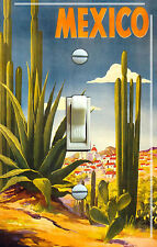 MEXICO CACTUS Vintage Travel Poster Single/Double Switch Plate **FREE SHIPPING**