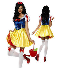 New Sexy Snow White Adult Fairytale Fairy Tale Ladies Fever Fancy Dress Costume